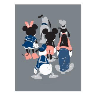 Mickey   Mickey Friend Turns Postcard
