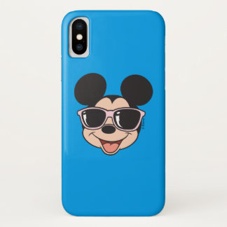Mickey | Mickey Smiling Sunglasses iPhone X Case