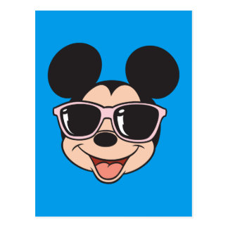 Mickey | Mickey Smiling Sunglasses Postcard