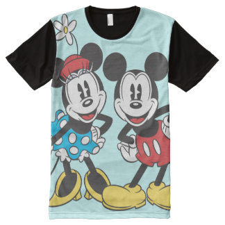 Mickey & Minnie | Classic Pair All-Over Print T-Shirt