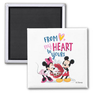 Mickey & Minnie   From My Heart to Yours Magnet