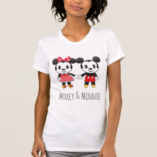 Mickey & Minnie Holding Hands Emoji 2 T-Shirt