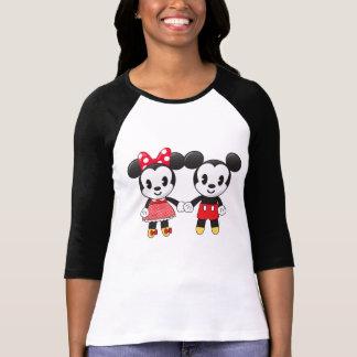 Mickey & Minnie Holding Hands Emoji 2 T-Shirt