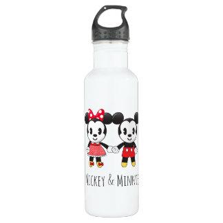 Mickey & Minnie Holding Hands Emoji 710 Ml Water Bottle