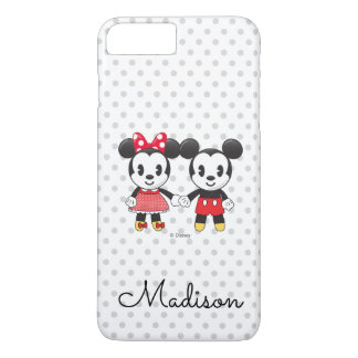 Mickey & Minnie Holding Hands Emoji   Your Name iPhone 8 Plus/7 Plus Case