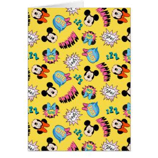 Mickey & Minnie   Super Hero Pop Pattern Card