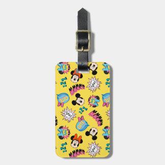 Mickey & Minnie | Super Hero Pop Pattern Luggage Tag