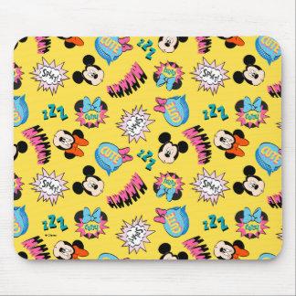 Mickey & Minnie   Super Hero Pop Pattern Mouse Pad