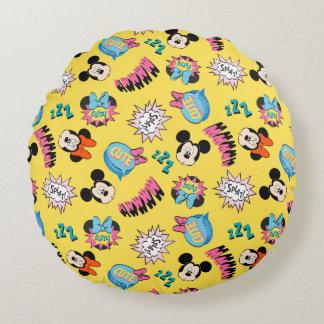 Mickey & Minnie | Super Hero Pop Pattern Round Cushion