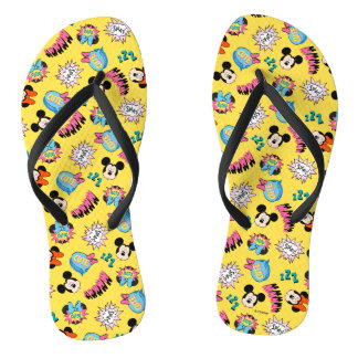 Mickey & Minnie | Super Hero Pop Pattern Thongs