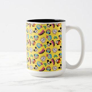 Mickey & Minnie | Super Hero Pop Pattern Two-Tone Coffee Mug