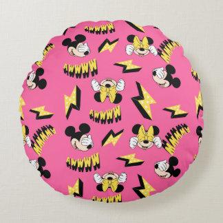 Mickey & Minnie | Super Hero Power Pattern Round Cushion