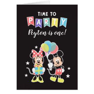 Mickey & Minnie | Time to Party Card