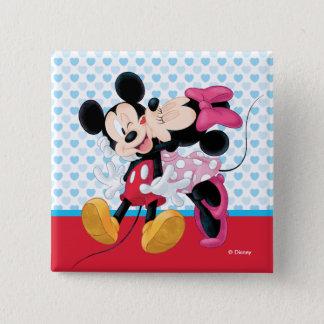 Mickey & Minnie | Valentine's Day Smooch 15 Cm Square Badge