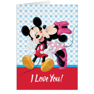 Mickey & Minnie | Valentine's Day Smooch Card