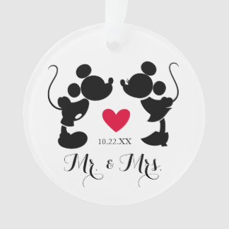 Mickey & Minnie Wedding | Silhouette Ornament