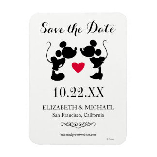 Mickey & Minnie Wedding   Silhouette Save the Date Magnet
