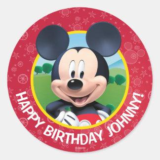 Mickey Mouse Birthday Classic Round Sticker