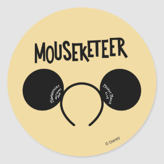 Mickey Mouse Club Ears Classic Round Sticker