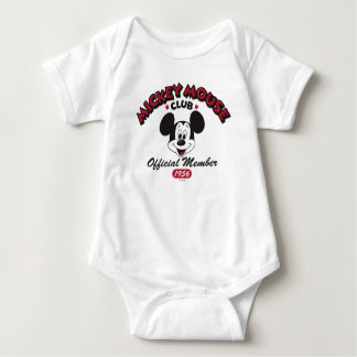 Mickey Mouse Club Member Logo (1956) Baby Bodysuit