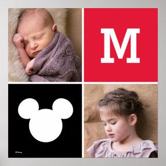 Mickey Mouse   Custom Photos & Monogram Poster