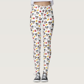 Mickey Mouse Emoji Pattern Leggings