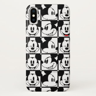 Mickey Mouse | Grid Pattern iPhone X Case