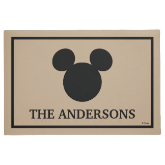 Mickey Mouse Head Silhouette | Welcome Doormat