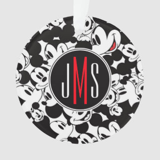 Mickey Mouse | Monogram Crowd Pattern Ornament