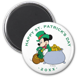 Mickey Mouse Pot of Gold | St. Patrick's Day Magnet