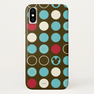 Mickey Mouse | Retro Polka Dot Pattern iPhone X Case