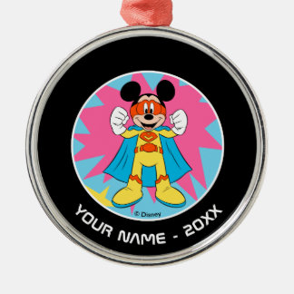 Mickey Mouse | Super Hero Cute Metal Ornament