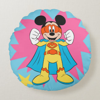 Mickey Mouse | Super Hero Cute Round Cushion