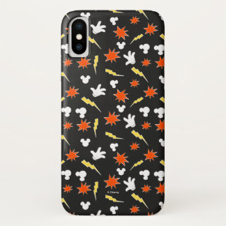 Mickey Mouse | Super Hero Icon Pattern iPhone X Case