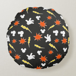 Mickey Mouse | Super Hero Icon Pattern Round Cushion
