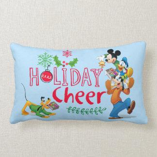 Mickey Spreading Holiday Cheer Lumbar Cushion