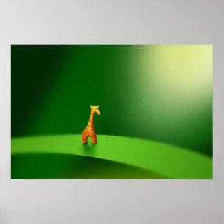 Micro Animals - Giraffe Poster
