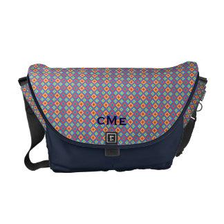 Micro Argyle Monogram Primitive Pattern Messenger Bags