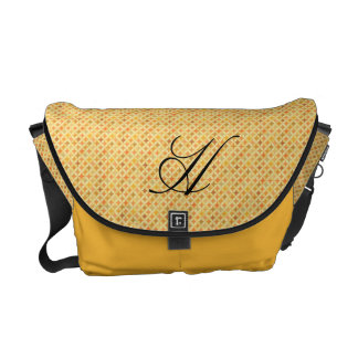 Micro Circles in Gold & Orange with Monogram Commuter Bags