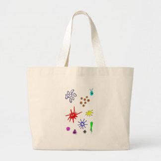 microbes large tote bag