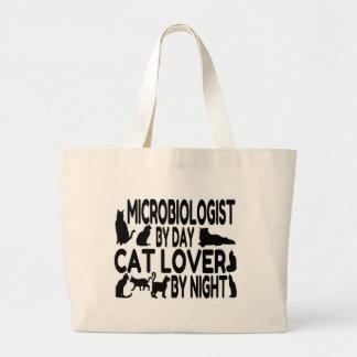 Microbiologist Cat Lover Large Tote Bag
