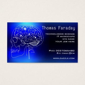 microchip circuits brain technology business card
