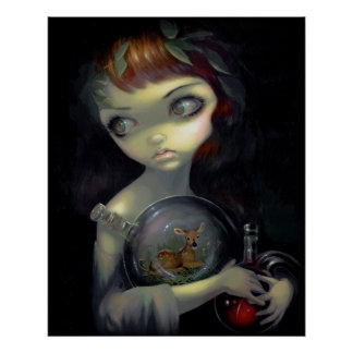 Microcosm:  Fawn ART PRINT gothic alchemy lowbrow