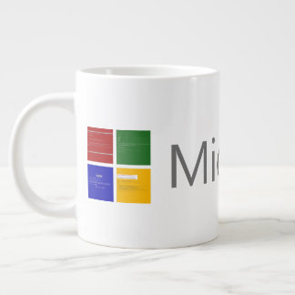 Microcrash Screen of Death Logo Large Coffee Mug