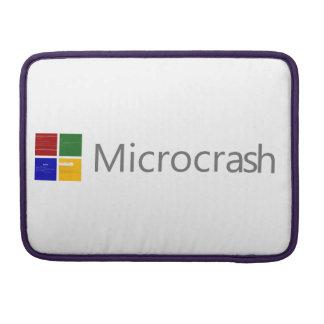 Microcrash Screen of Death Logo Sleeve For MacBook Pro