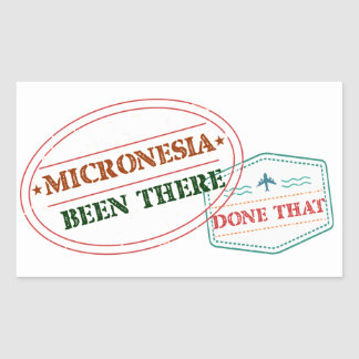 Micronesia Been There Done That Rectangular Sticker