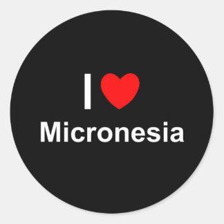 Micronesia Classic Round Sticker