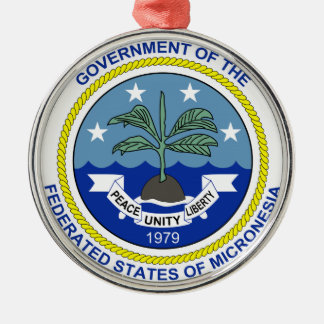 Micronesia Coat of Arms Metal Ornament