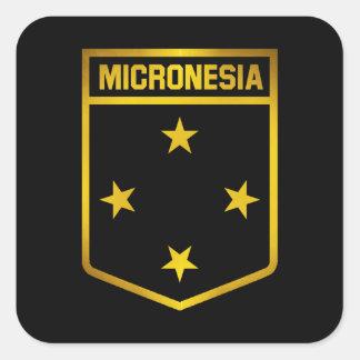 Micronesia Emblem Square Sticker