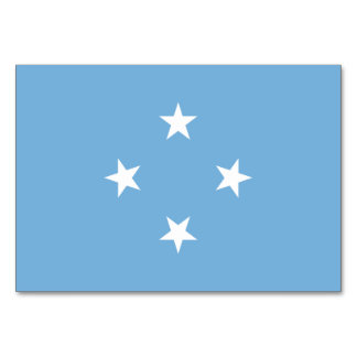 Micronesia Flag Card